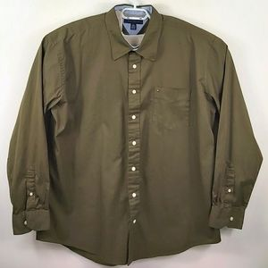 Tommy Hilfiger long sleeved button down shirt